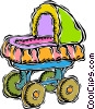 Vector Clip Art graphic  of a carriage or stroller
