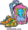 Vector Clip Art image  of a child's school bag