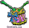 toy drum Vector Clip Art graphic