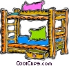bunk beds Vector Clip Art graphic