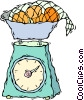 Vector Clip Art image  of a scale