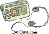 walkman, portable stereo Vector Clipart illustration