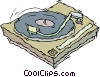 record player Vector Clipart graphic