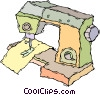 Vector Clip Art image  of a sewing machine