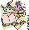 notebook or personal journal with pen Vector Clip Art picture