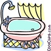 Vector Clip Art graphic  of a bathroom tub