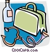 Vector Clip Art graphic  of a doctor's travel bag