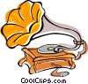 gramophone Vector Clipart illustration