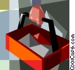 Vector Clip Art graphic  of a man with his toolbox