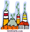 Vector Clipart graphic  of a business cost of industry