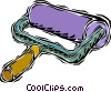 paint roller Vector Clip Art picture