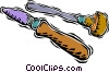 Vector Clip Art graphic  of an artist's palette tools
