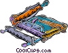 Vector Clipart illustration  of a paper cutter