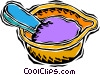Vector Clip Art graphic  of a mixing paint