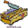 Vector Clipart image  of a miter box