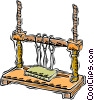 Vector Clip Art picture  of a loom