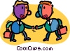 businessmen shaking hands Vector Clip Art graphic