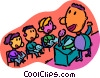 Vector Clip Art image  of a teacher