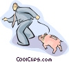 piggy bank Vector Clipart graphic