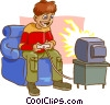 Vector Clip Art graphic  of a video games