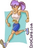 Vector Clip Art graphic  of a runner