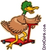Vector Clipart graphic  of a duck