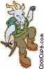 Vector Clipart graphic  of a mountain goat
