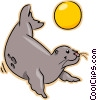 Vector Clipart illustration  of a seal
