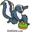Vector Clip Art graphic  of a skunk