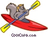 kayak Vector Clip Art graphic