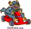 Vector Clipart picture  of a go kart