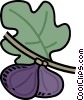 plums on branch Vector Clip Art graphic
