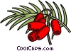 red peppers Vector Clipart illustration