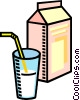 milk, glass of milk Vector Clip Art image