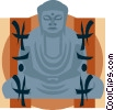 Buddha with inscription Vector Clipart image