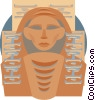 Vector Clipart illustration  of a Egyptian mummy