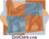 Ancient Sculpture Vector Clip Art graphic