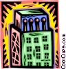 Vector Clip Art graphic  of a office tower