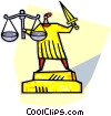 scales of Justice Vector Clipart picture