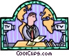 TV news reporter Vector Clipart graphic