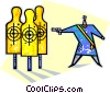 target practice Vector Clipart picture