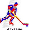 ice hockey Vector Clipart graphic