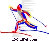 cross-country skiing Vector Clipart graphic