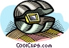 Vector Clip Art image  of a technology as a pearl in an