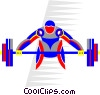Vector Clipart graphic  of a weight training