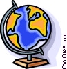Vector Clipart image  of a globe