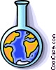 planet earth and the chemical industry Vector Clipart picture