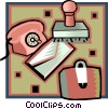 Vector Clipart illustration  of a business correspondence