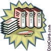 financial records, accounting books Vector Clipart graphic