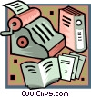 Vector Clipart illustration  of a financial accounting